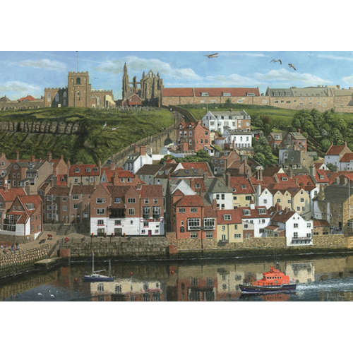 Whitby Harbour Jigsaw puzzle falcon yorkshire brit
