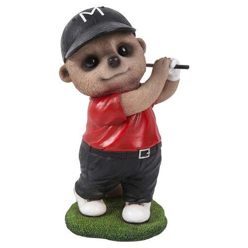 XMK-2324-D golfer baby meerkat vivid arts golf
