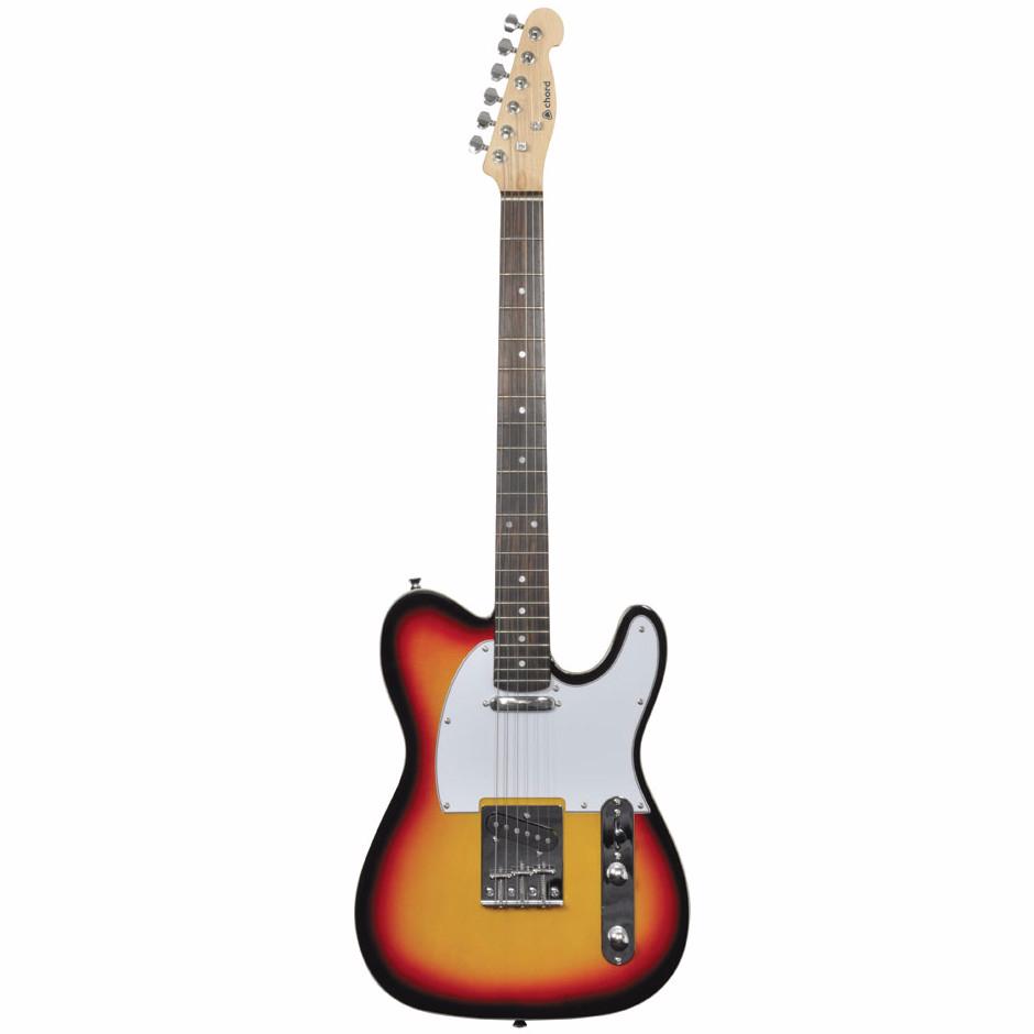 chord cal62 sunburst electric guitar by chord. Black Bedroom Furniture Sets. Home Design Ideas