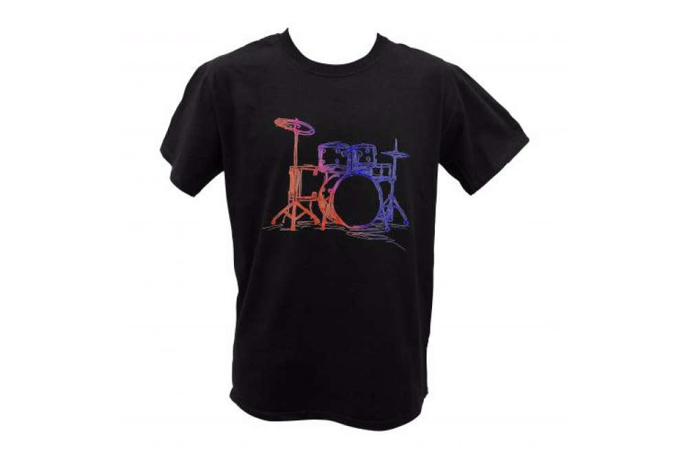 38173c19 ... Drum Kit Sketch Black T-Shirt. More Images: