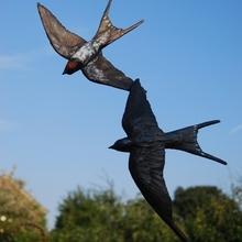 Swallow Flight of Joy Bronze sculpture for garden